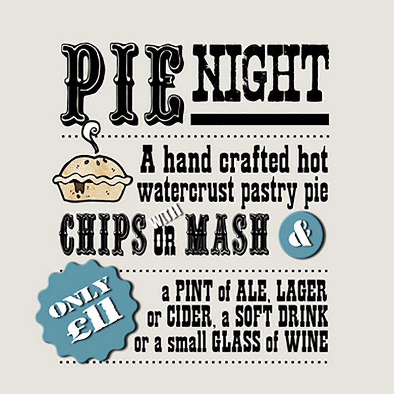 pie night ad
